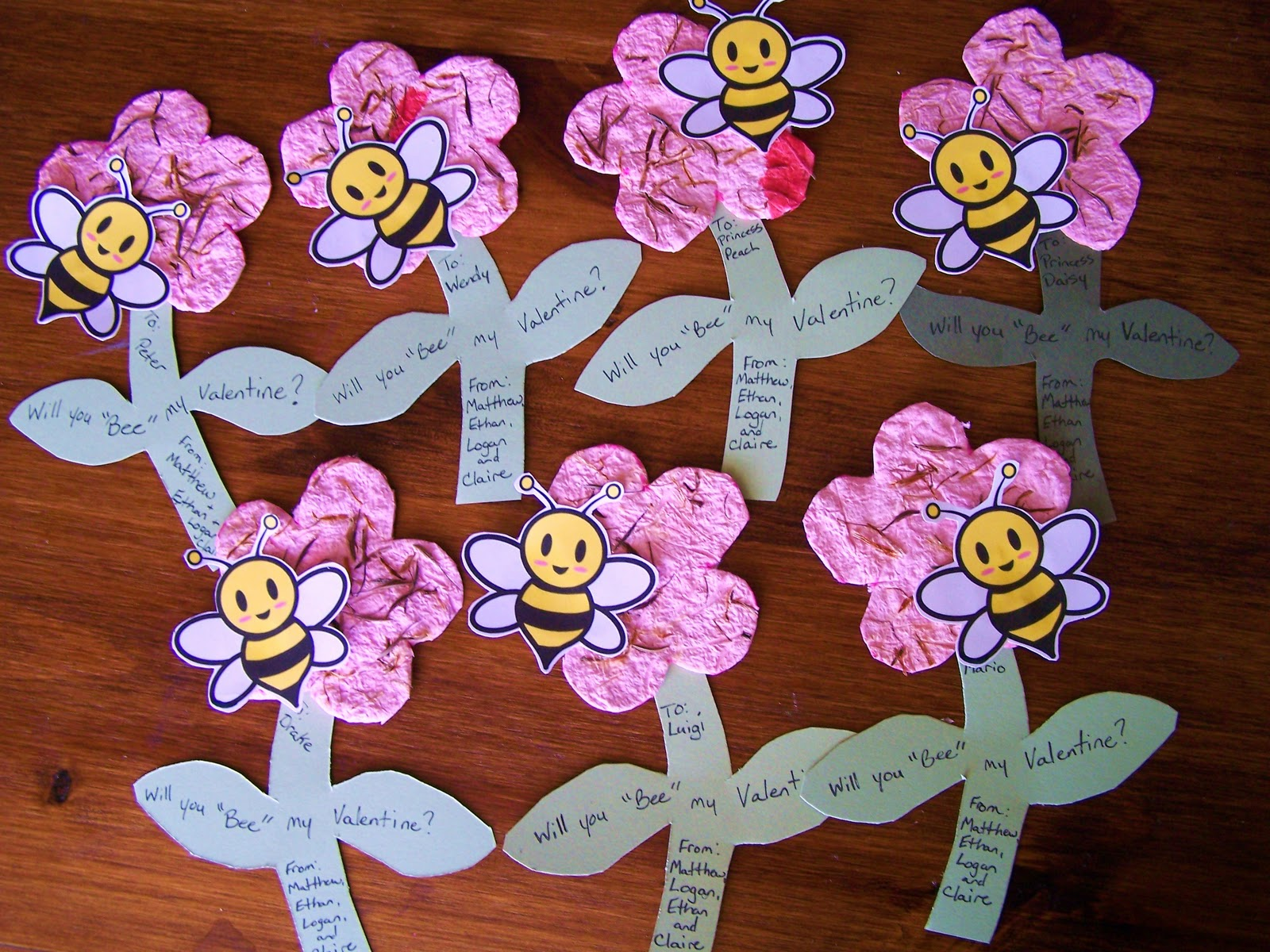 ... Homemade Valentine Cards With Kids Seed Paper